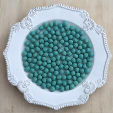 1cm AQUA Felt Wool Balls - CHOOSE QUANTITY - handmade beads pom poms diy craft