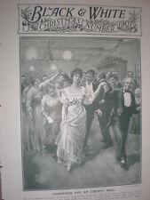 Veille de Noël en liberté Hall Charles Sheldon 1907 OLD PRINT