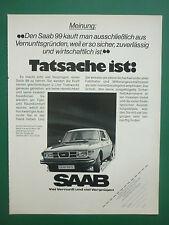 5/1976 PUB VOITURE SAAB 99 WAGEN CAR / TEXAS INSTRUMENT TI-2550 II ORIGINAL AD