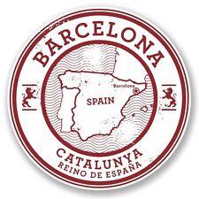 2 X Barcelona Cataluña España Pegatina de vinilo Laptop Viaje Equipaje Coche #5723