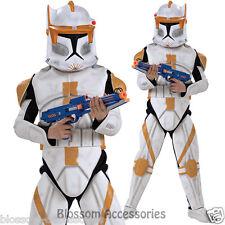 CK367 Deluxe Clone Trooper Commander Cody Star Wars  Boys Fancy Dress Up Costume