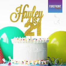 Cake Topper Metálico Plata números aniversario de cumpleaños símbolo recoger y brillante