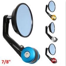 "Motorcycle CNC Handle Bar End Custom Mirrors Round 7/8"" For Honda Yamaha Suzuki"