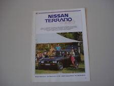 advertising Pubblicità 1990 NISSAN TERRANO 4X4
