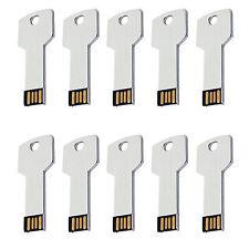 10PCS USB 2.0 Flash Drives Memory Sticks Key Shape USB Sticks Thumb PenDrives