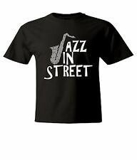 Jazz In Street Mens / Unisex Crew Neck Top Tee T-Shirt