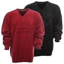Kitaro Strickpullover Pullover Herren Langarm V Ausschnitt Plusgröße Übergröße