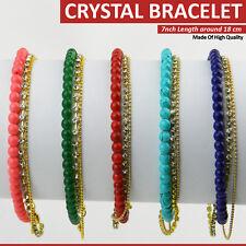 Cuentas de cristal Pulsera de Cristal Boda Fiesta Dama De Honor Diseño Regalo Varios Colores