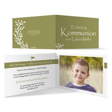Altarfalz Anzug Kommunion Einladungskarten Kommunionseinladungen Einladungen