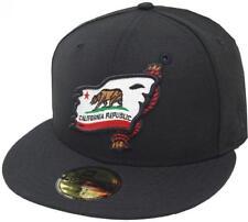 New Era California Republic Shipwreck Black Cap 59fifty Fitted Limited Edition