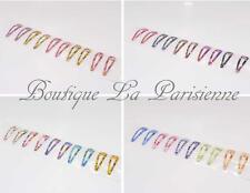 10 Haarclips  Haarspangen Haarklammern Haarschmuck Mädchen Bunt 24 Modelle Paris