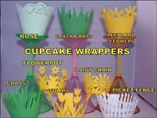 Hierba De Primavera Flores Pascua Magdalena Envolturas x12 única manera de exhibir Cupcakes