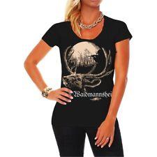 Frauen Damen T-Shirt Waidmannsheil Jägerin Försterin Forst Jagd  Hobby Beruf