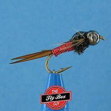 Copper John Red Wire TUNGSTEN Bead Head (6) Premium Flies -Select Sizes***