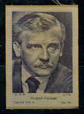 1930s: Rudolf Forster - large silk cigarette card #72