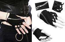 Gant mitaine zippé gothique punk lolita entrelacé bagues glam rock sexy PunkRave