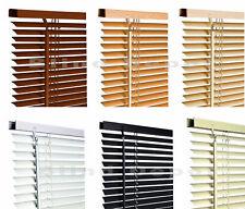 Venetian Blinds in PVC Plain Colours or Wood Grain Effect