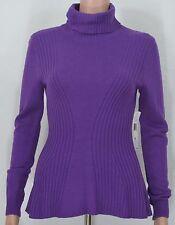 Lauren Ralph Lauren #2028 NEW Women's Purple Long Sleeve Turtleneck Sweater