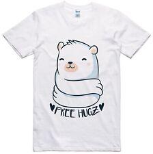 Unisex T Shirt Polar Bear Free Hugs Hugz Cute Polar Bear Regular Fit Tee