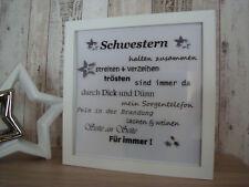 LED Bilderrahmen Geschwister Schwester Geschenke Deko Familie Herzen