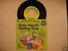 Disneyland Records SEVEN DWARFS WASHING SONG 45rpm 1962