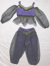 """Black 24"""" Waist Purple 2 PC Belly Dancer Genie Halloween Costume"""