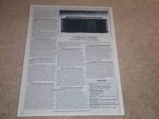 Carver 4000t Preamp Spec Sheet,1 pg,Specs,1987