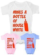 Mine's A Bottle House White Babygrow Vest Baby Clothing Funny Gift
