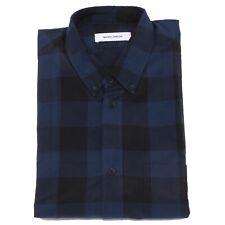 5461U camicia uomo MAURO GRIFONI blue/black shirt long sleeve men