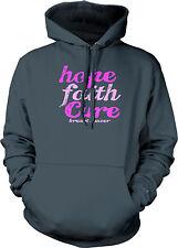 Hope Faith Cure Breast Cancer Awareness Think Pink Komen Limited Mens Sweatshirt