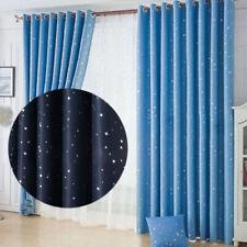 Stars Blackout Darkening Curtains Window Panel Drapes Door Bedroom Curtain