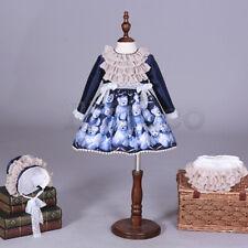 Girls Blue Little Bear Pageant Court Dress Spanish Princess Skirt Birthday Dress