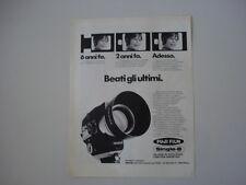 advertising Pubblicità 1969 FUJIFILM FUJI FILM SINGLE 8