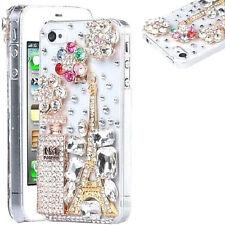 NEW DIAMOND DESIGNER BLING DIAMANTE PERFUME CASE COVER GIFT MOBILE PHONES UK