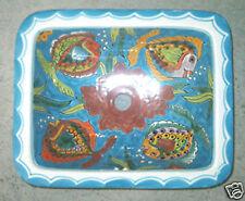 SQ#002) MEXICAN RECTANGLE BATHROOM SINK TALAVERA HAND MADE CERAMIC BASIN