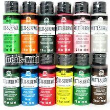 1 FolkArt Multi-Surface Satin Finish Acrylic Paint Folk Art Paints ManyColor 2oz