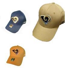 info for 831d7 a51dd New Los Angeles Rams Mens Size OSFA Reebok Tan or Navy Flexfit Sideline Hat   22