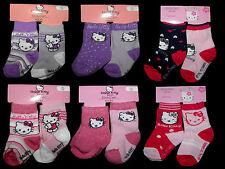 Hello Kitty Socken Thermosocken 2 Stück Doppelpack 50 56 62 68 74 80 86 92  NEU