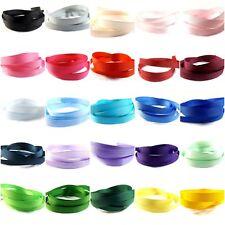 "Grosgrain Ribbon 10mm (3/8"" inch) - 35 Plain Coloured Double Sided/Faced Medium"