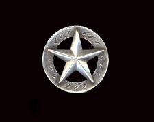 "Western Decor Silver Star  5/8"" Hat Band Concho"