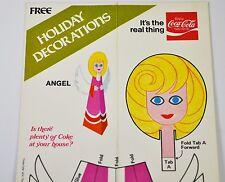 Coca Cola USA 1970 Handicraft sheets Weihnachtsdeko 10 Motifs Santa Angel 3 st