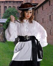 Medieval Shirt Renaissance Pirate Unisex White BlackCotton S/M - XXL NEW (C1010)