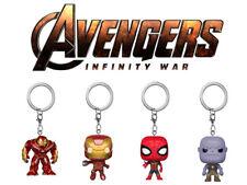 Avengers! Bobble-Head Key Ring (4cm) Ironman Spiderman Hulkbuster Thanos
