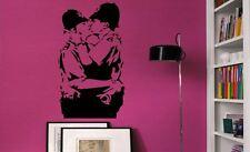 Banksy graffiti Cops Kissing police Car LoungeLaptop Vinyl Wall Decal Sticker