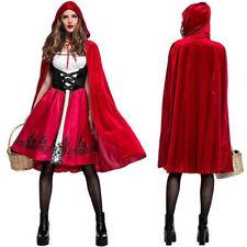EU Damen Deluxe Rotkäppchen Märchen Dress Up Kostüm Cosplay Halloween