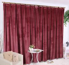 A Pair New  Velvet Curtains 2x280x260cm Drop, Dusty Rose Colour