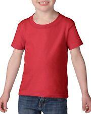 Bebé Niños Unisex Gildan Plain 100% Cotton Escuela PE Camiseta 14 Colores 6m-14yrs