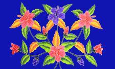 Sarong Dress Swim Cover Cruise Beach Luau Wrap Shawl Hand Painted Tuberose Hibis