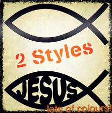 Ichthys Fish Jesus Religious Early Christian secret symbol church Sticker car