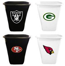 NFL Team Logo 5.5 Gallon White or Black Plastic Trash Can Wastebasket Man Cave
